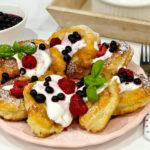 Racuchy waniliowe z jogurtem greckim