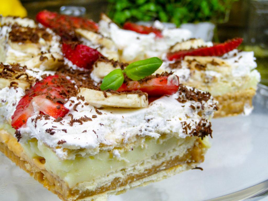 Krówka z owocami, ciasto bez pieczenia