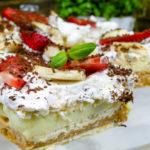 Krówka z owocami, ciasto bez pieczenia (video)