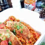 Ryba po grecku z pastą z suszonymi pomidorami Wawrzyniec